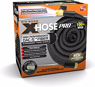 Xhose Pro DAC-5 High Performance Lightweight Expandable Garden Hose with Brass Fittings (100 Feet)