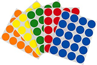 ChromaLabel Removable Round Color-Code Dot Sticker Kit, 5 Assorted Standard Colors, 1200/Pack, 1 inch