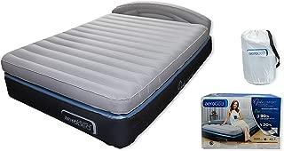 aerobed opticomfort headboard bed gray queen grand lit