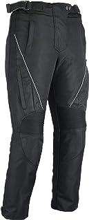 Jazz–Mujer térmica pantalones de moto impermeable–Protectores CE de–negro tamaño 50