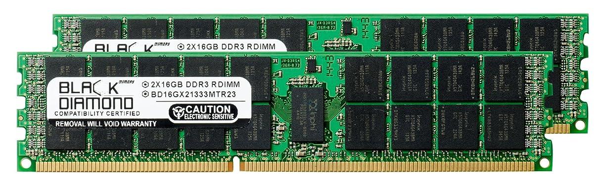 エンジニアリング入射紳士気取りの、きざな32GB 2X16GB Memory RAM for Compaq ProLiant SL160s G6 (626896-B21) Black Diamond Memory Module 240pin PC3-10600 1333MHz DDR3 ECC Registered RDIMM Upgrade