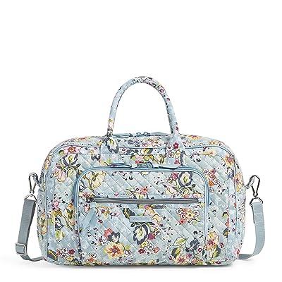 Vera Bradley Compact Weekender Travel Bag (Floating Garden) Weekender/Overnight Luggage