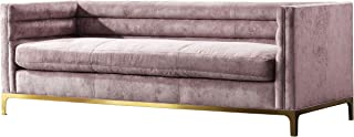 Acanva Luxury Modern Tufted Velvet Down-Filled Living Room Sofa, Couch, Pinkish purple
