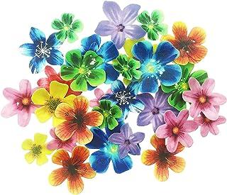 Juego de 30 flores comestibles para cupcakes, adornos de tartas de boda o cumpleaños, de diferentes tamaños y colores