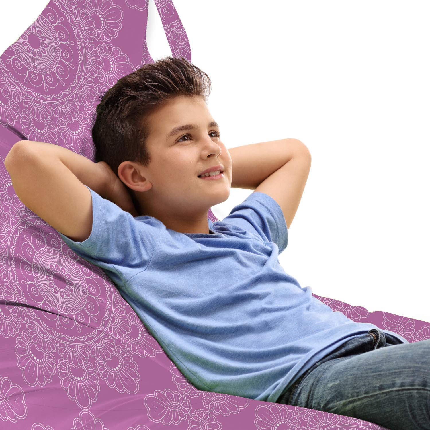 Lunarable Mandala Special price Lounger Chair Traditional Max 80% OFF Illustration Mo Bag