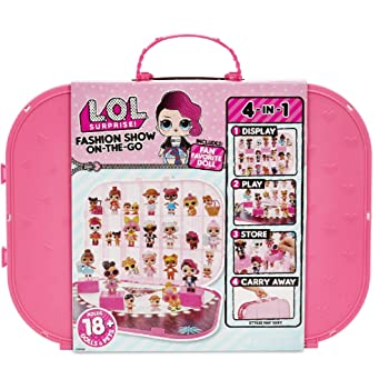 L.O.L. Surprise! Fashion Show On-The-Go Storage/Playset with Doll Included – Hot Pink