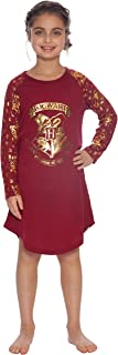 Harry Potter Big Girls' Hermione Granger 'Hogwarts Varsity Magic Crest' Raglan Costume Pajama Nightgown, Red, 7