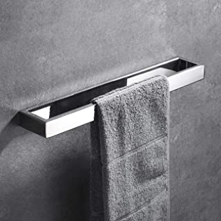 Hoooh Hand Towel Holder for Bathroom, 15-3/4 Inch Polished Stainless Steel Kitchen Towel Bar Wall Mounted, D110L40-CH
