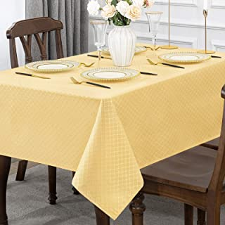 Jacquard Rectangle Table Cloth Oil-Proof Spill-Proof Wrinkle Resistant Tablecloths, Washable Polyester Fabric Heavy Weight...