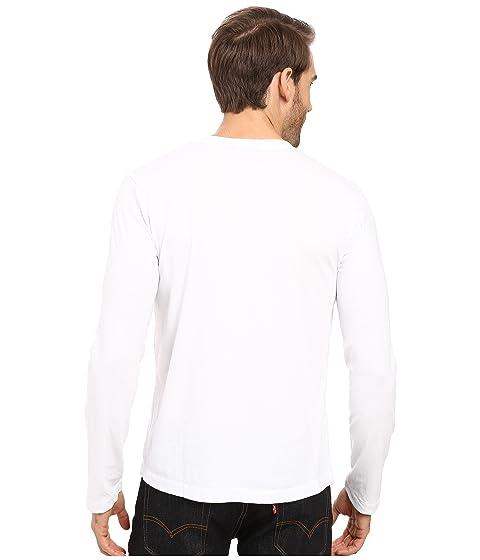 camiseta camiseta o doc blanca manga en Mod con Cardiff de cuello v larga qPawcZOZR