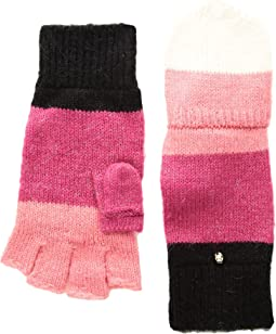 Brushed Color Block Pop Top Mitten