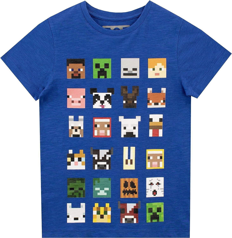 Minecraft Boys Short Sleeved T-Shirt 6-7 Years Blue