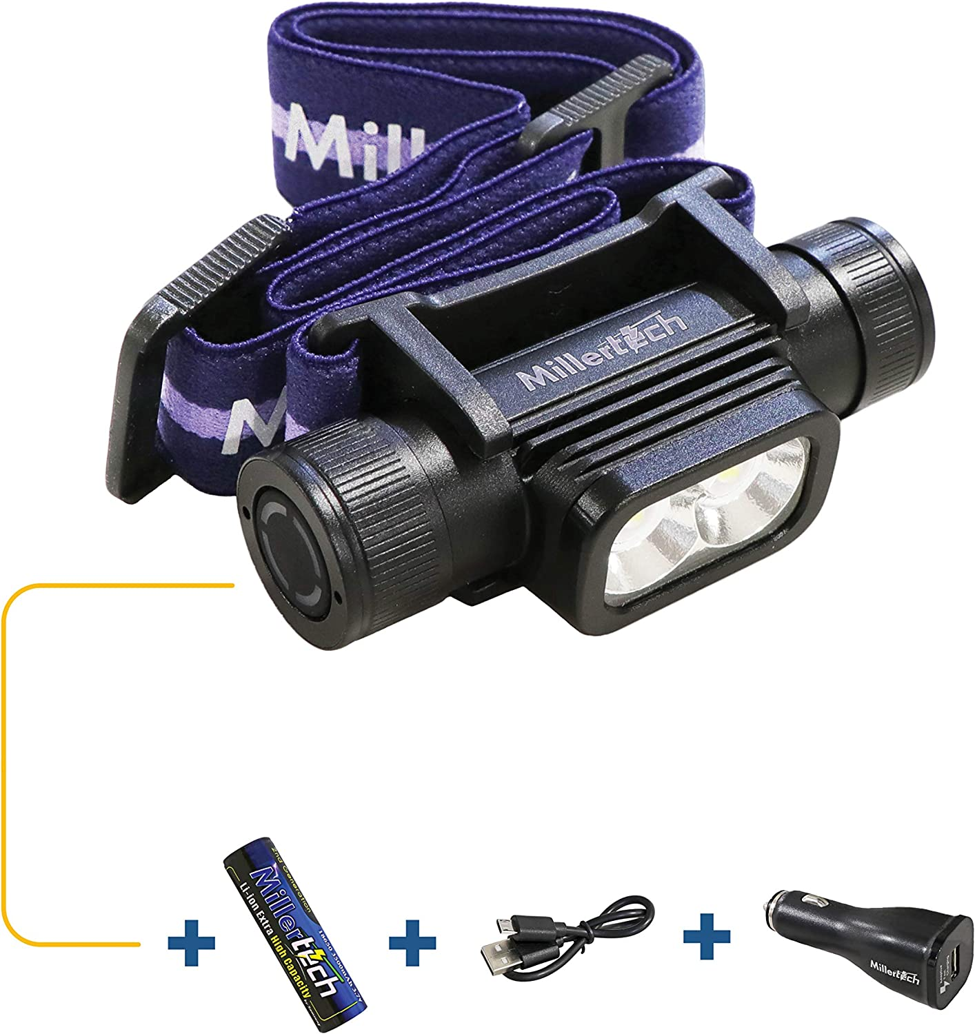 MillerTech Now on sale #555 - Double Power Headlamp Recommended LED CREE 18 Rechargeable