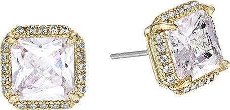 Kate Spade New York Womens Save The Date Pave Princess Cut Stud Earrings