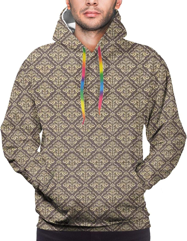 TENJONE Men's Hoodies Sweatshirts,Classical Geometric Interpretation of Triangles Grouped Together