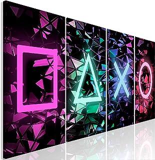 murando - Bilder für Gamers Spielkonsole 160x60 cm Vlies Leinwandbild 4 Teilig Kunstdruck modern Wandbilder XXL Wanddekora...