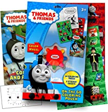 Thomas the Train On the Go Coloring Pouch Activity Set With Stickers, Coloring Pages, and Coloring Wheel - Includes 1 bonus sheet of Thomas and Friends Stickers