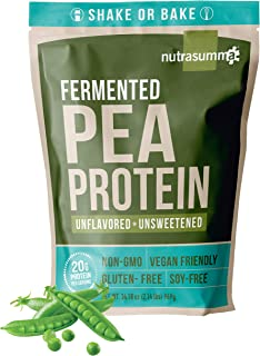 Nutrasumma 100% Plant Based Fermented Pea Protein Powder, Unflavored and Unsweetened, 2.14lbs - North American Sourced Pea...