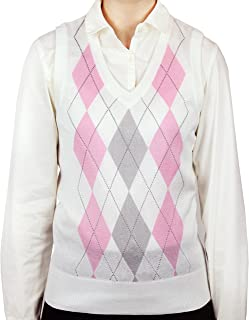 Blue Ocean Ladies Argyle Sweater Vest