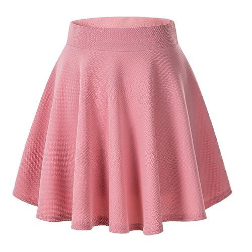 3c97b30b0d Urban GoCo Falda Mujer Elástica Plisada Básica Patinador Multifuncional  Corto Falda