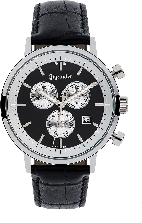 Gigandet G6–003–Watch for Men Black Strap Leather Sales Baltimore Mall