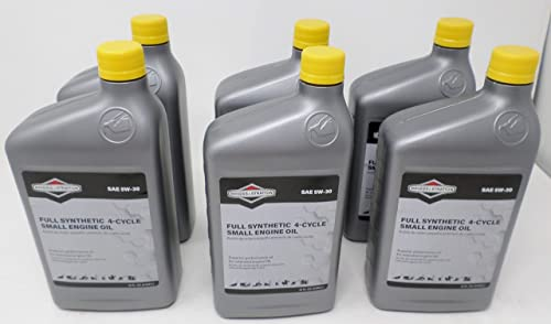 Briggs and Stratton 6-Pack 100074 Quart 5W-30 Synthetic Oil