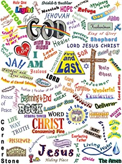 Mountain High Crafts Who He Is - Names of God Poster - 18