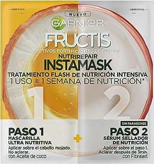 Garnier Fructis Nutri Repair Instamask Tratamiento Capilar Flash de Nutrición Intensiva para Pelo Muy Seco 15+15 ml
