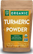 Organic Turmeric Root Powder w/ Curcumin | Lab Tested for Purity | 100% Raw from India | 8oz/226g Resealable Kraft Bag | b...