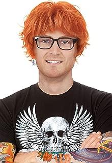 Red Ed Costume Wig Rocker Set. Ron Ginger Wig. + Tattoo Sleeves + Black Glasses. Chucky Orange Cosplay Anime Wig Fits Men & Kids