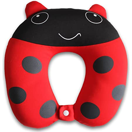 Train Sleeping U-Shape Soft Neck Head Chin Support Pillow for Airplanes Cat and Pig Gifts 2 Pieces Kids Travel Neck Pillow Rest Cars Road Trips