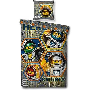 Copripiumino Misure Standard.Set Copripiumino Lego Nexo Knights 2 Pezzi Cuscino 80 X 80 Cm