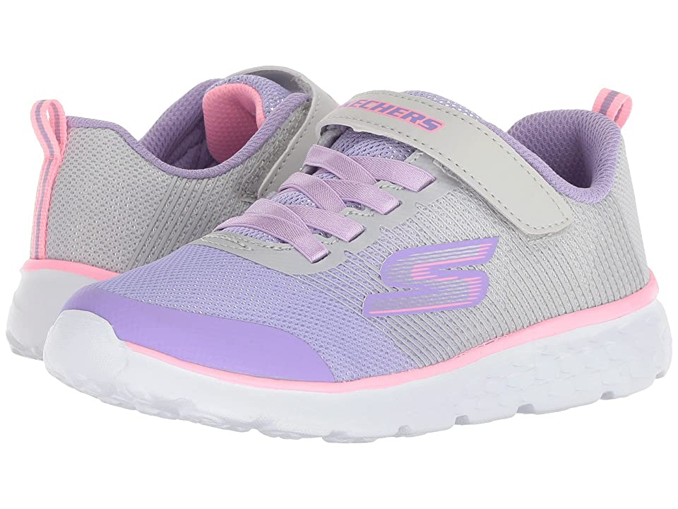 SKECHERS KIDS Go Run 400 (Little Kid/Big Kid) (Grey/Lavender) Girl