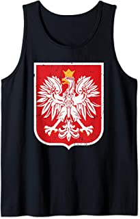 Poland Eagle Flag Retro   Gift Proud Polish People   Blazon Tank Top