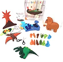 Frecklez Dinosaur Sewing Kit | Beginners Craft and Sewing Kit for Kids | Create Your Own Stuffed Animals