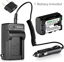 Kastar BN-VG114 Battery (1-Pack) and Charger Kit for JVC BN-VG107 BN-VG107U BN-VG108U BN-VG108E BN-VG114 BN-VG114U BN-VG114US Rechargeable Lithium-ion Battery