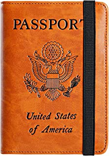 552088062da7 Amazon.com: passport holder leather men