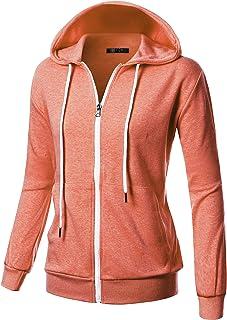 4f830354ada65 GIVON Womens Comfortable Long Sleeve Lightweight Hoodie with Kanga Pocket