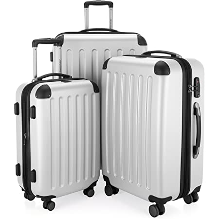 HAUPTSTADTKOFFER - Spree - Set de 3 valises, Bagages rigides, ABS, TSA, extensible, extra léger, 4 roues, (S M & L),Blanc