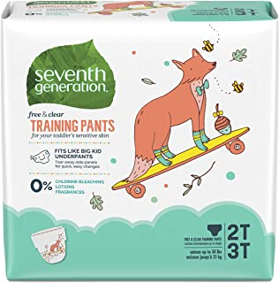 Seventh Generation Baby and Toddler Training Pants, Medium Size 2T-3T, 100 count (Packaging May Vary)