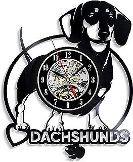Levescale - Daschund Vinyl Wall Clock - Express Shipping for Boy, Girl, Man Or Woman, Decoration for Kids Room - Sausage Dog, Dackel, Teckel, Wiener Dog, Dash-Hound