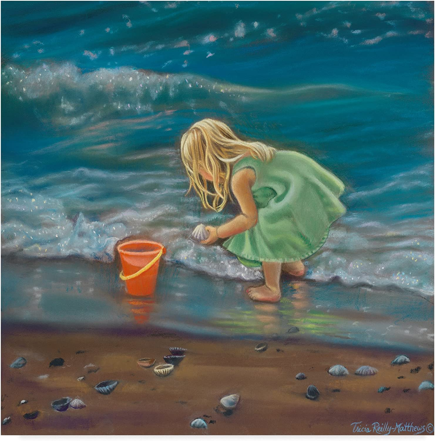 Beach Treasures by Tricia Reilly-Matthews, 14x14-Inch
