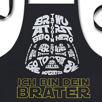 YORA Grillschürze für Männer lustig - Ich Bin Dein Brater - Vatertagsgeschenk inkl. BBQ-Urkunde - lustige Geschenke zum Vatertag - Geschenkideen Papa & Opa