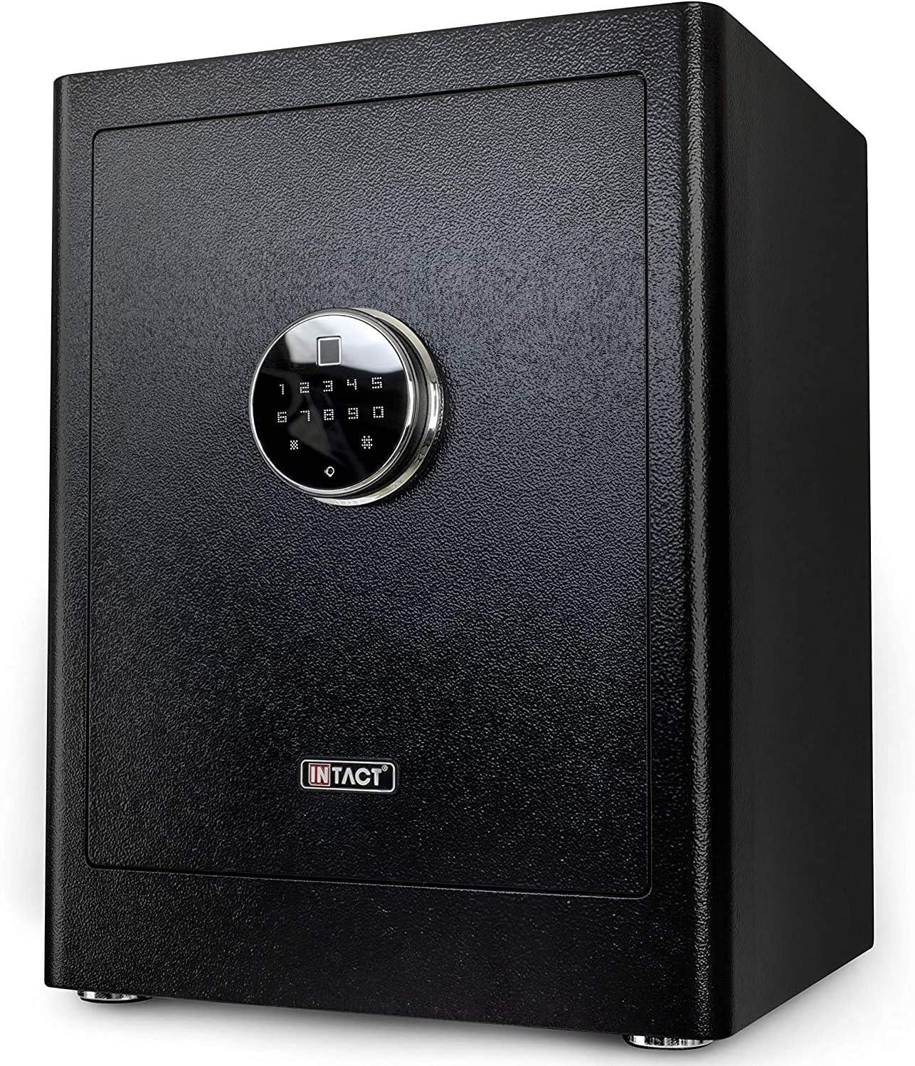 Intact Large Quick Access Biometric 開催中 Fingerprint Safe Ne 40%OFFの激安セール With Gun