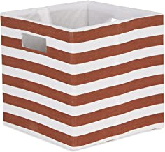 DII Polyester Cube Storage Collection Collapsible Hard Sided Bin, 13x13x13, Cinnamon