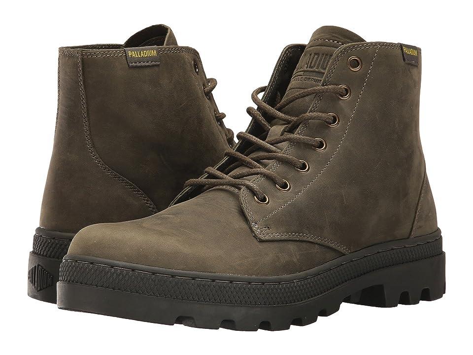 Palladium Pallabosse Mid (Olive Night/Beluga) Men's Shoes, Brown