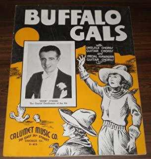 Buffalo Gals with Ukelele Chords, Guitar Chords and Special Hawaiian Guitar Chorus