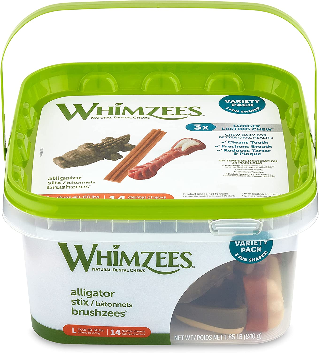 Whimzees Be super welcome Natural Dental Dog Treats Large lbs L 40-60 2021 spring and summer new For Dogs