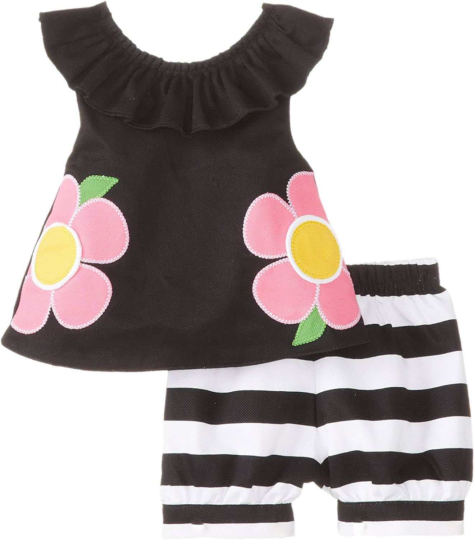 Mud Pie Baby-Girls Sacramento Mall Selling and selling Newborn Short Set Flower