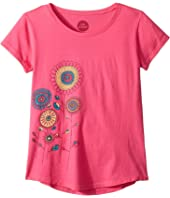 Playful Flowers Smiling Smooth T-Shirt (Little Kids/Big Kids)